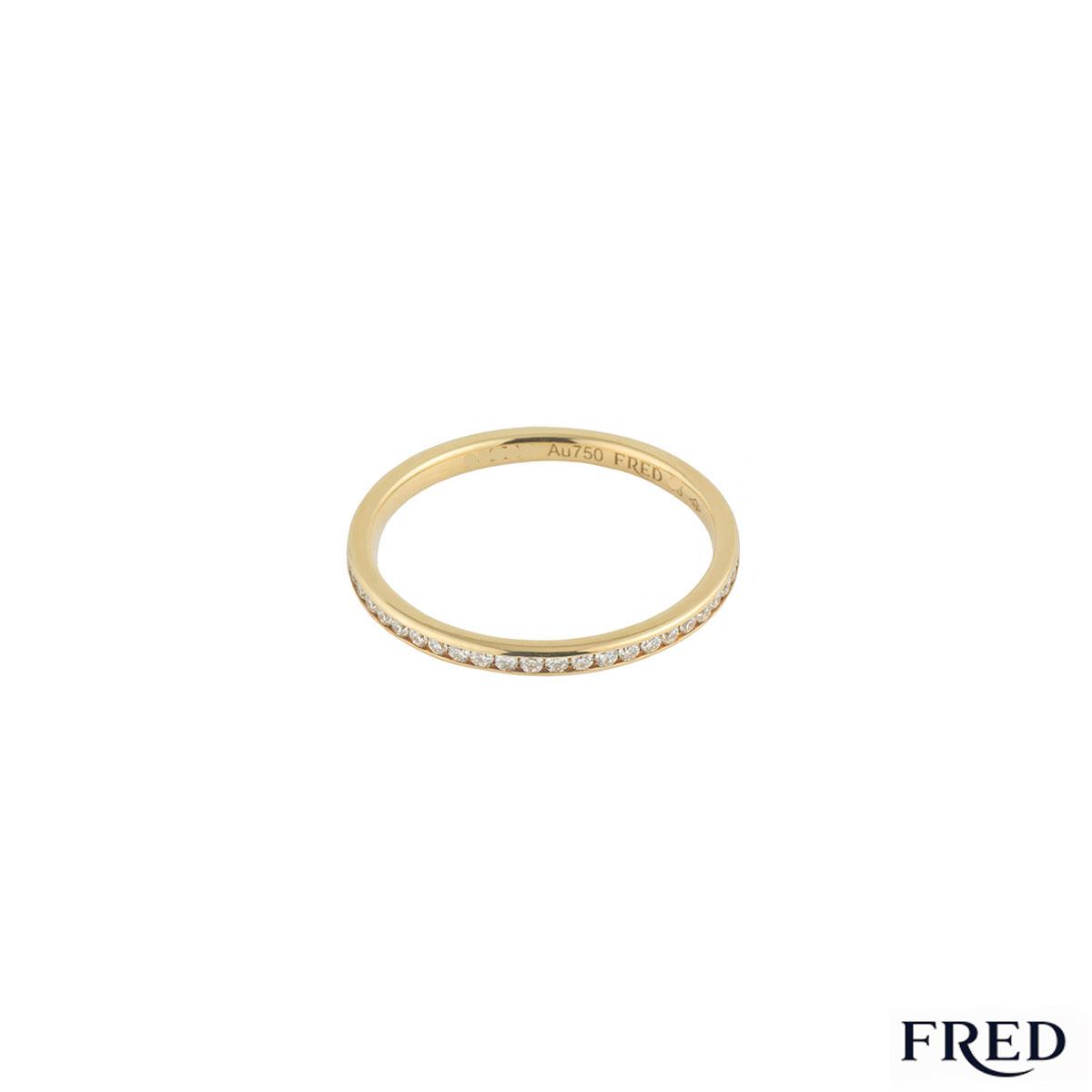 Fred Yellow Gold Full Diamond Eternity Ring 0.36ct G+/VS+